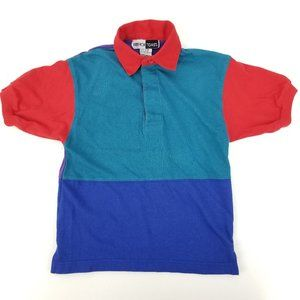 Vintage 90s French Toast Colorblock Polo Small / 8